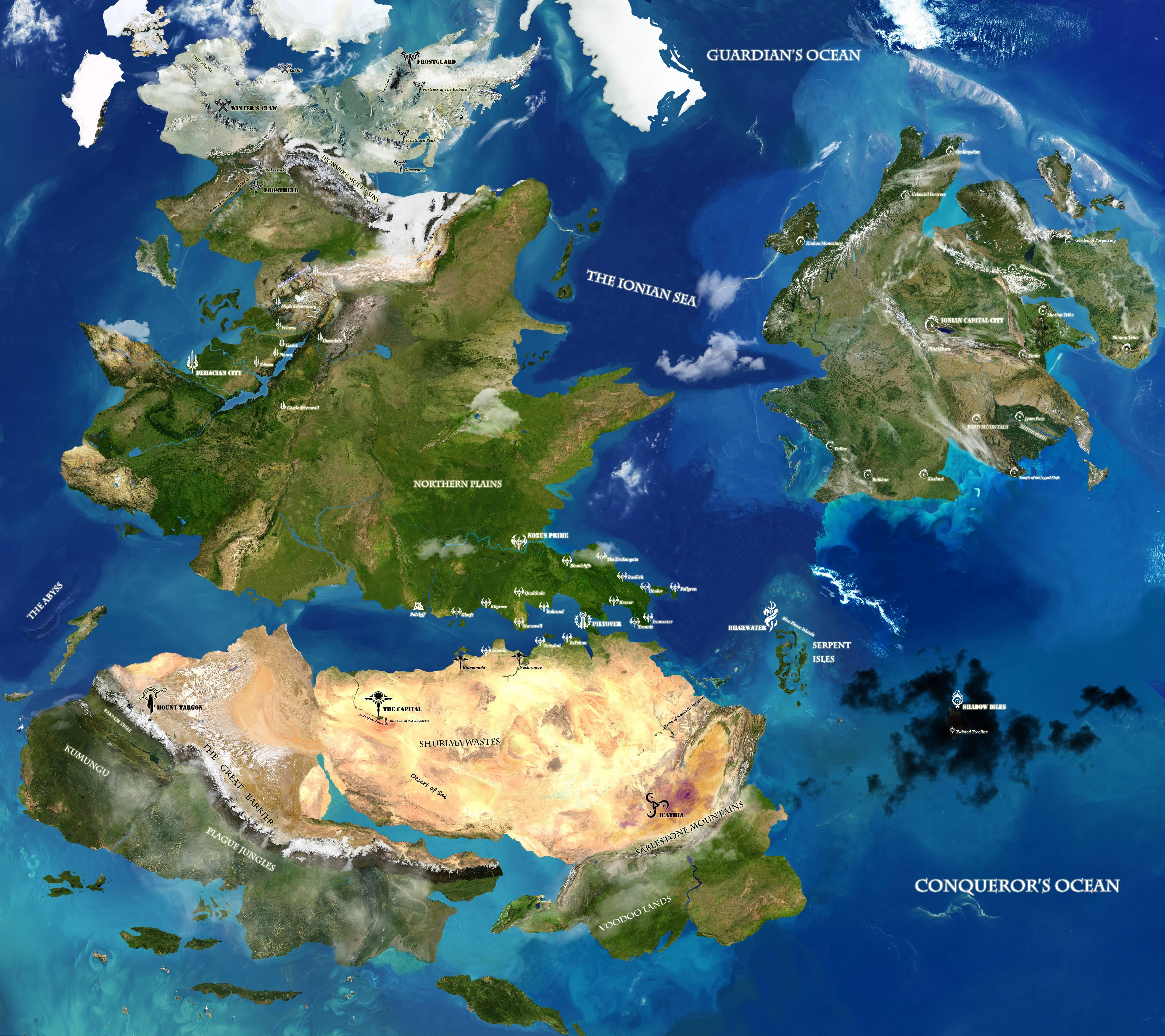 Mapa Satelitarna Runeterry